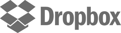 Black and white logo for Dropbox