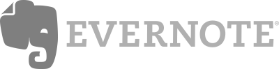 Black and white logo for Evernote