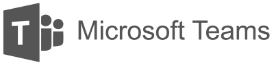 Black and white logo for Microsoft Teams